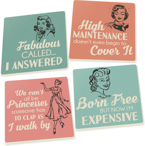 Coaster Set-Lady