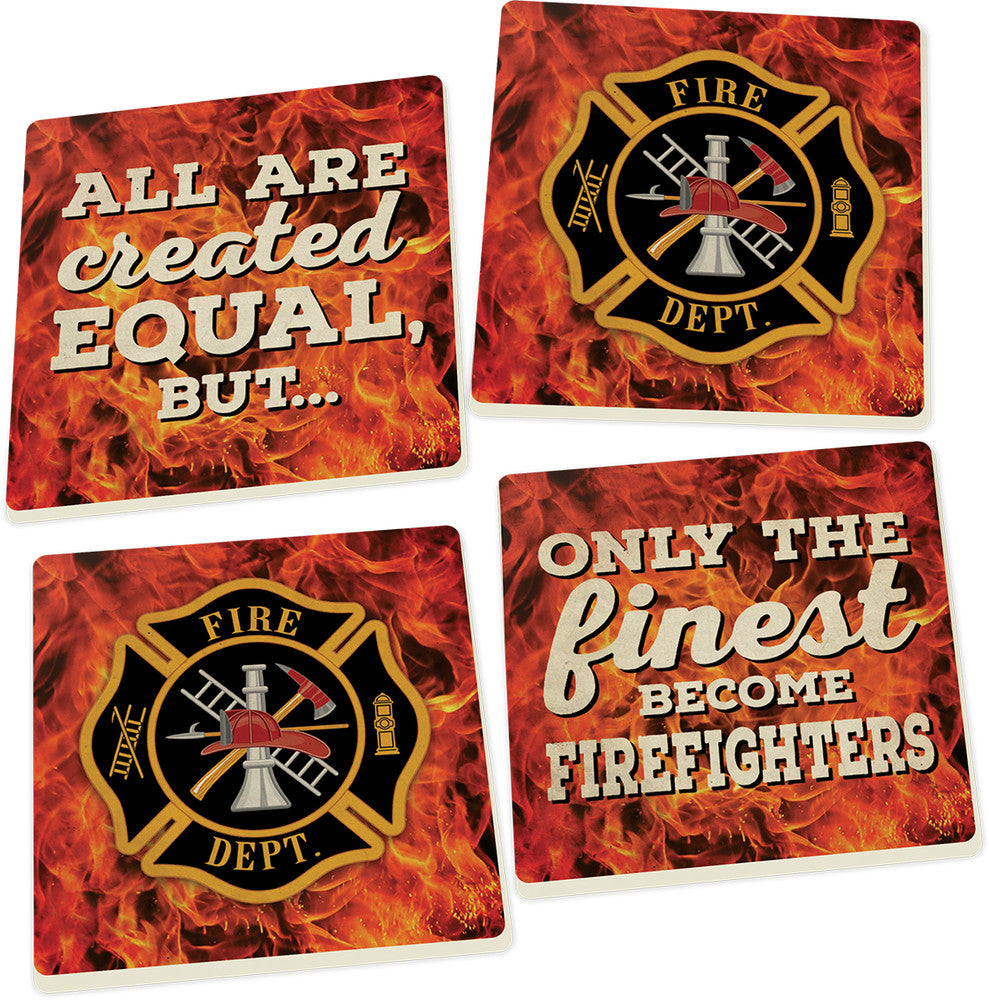 Coaster Set-Firefighter