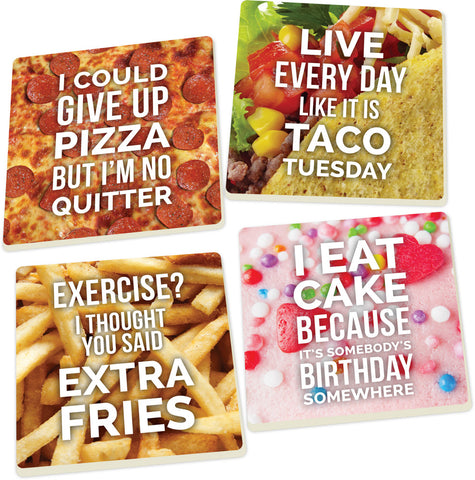Coaster Set-Food Humor