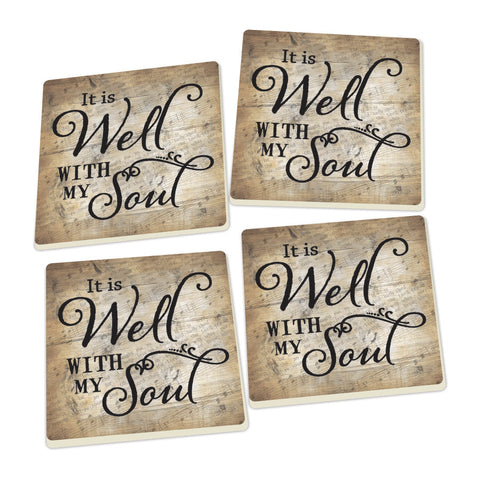 Coaster Set-Well With My Soul