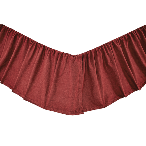 Cheyenne American Red Queen Bed Skirt