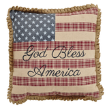 Flag Pillow w/God Bless America