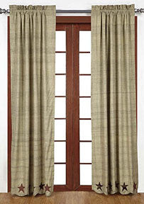 Abilene Star Curtains, 2/Set