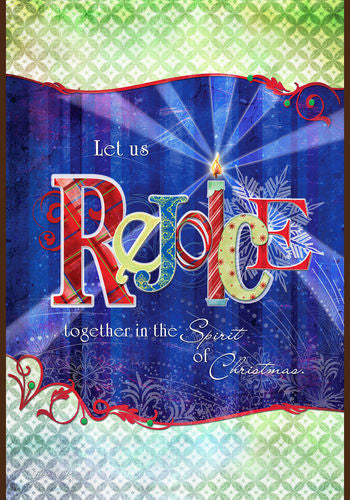 Rejoice Together Garden Flag
