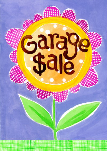 Garage Sale Garden Flag
