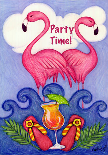 Party Time Garden Flag