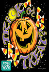 Trick or Treat Garden Flag (Two Sided Text)