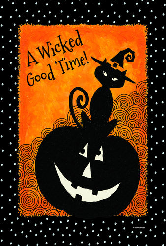 A Wicked Good Time Garden Flag