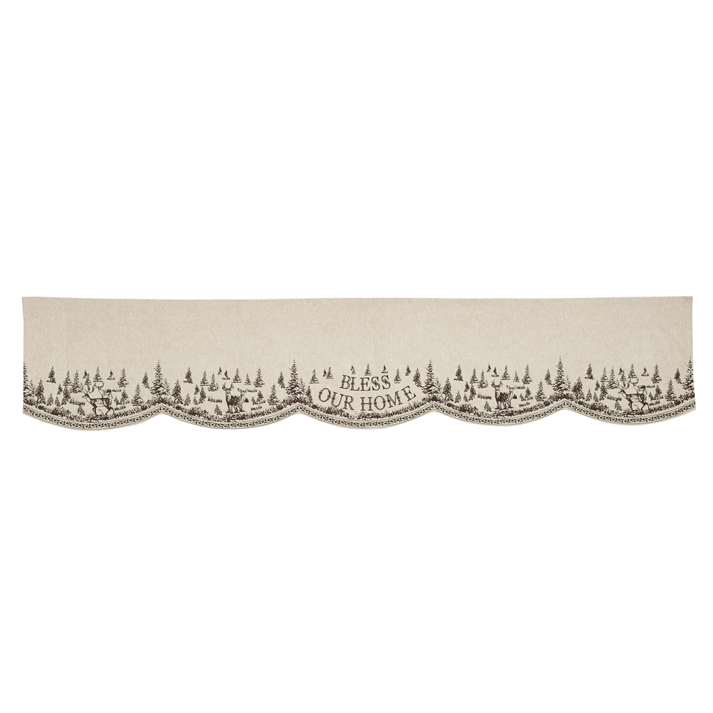 Woodland Christmas Mantel Scarf
