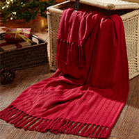 Red Woven Throw