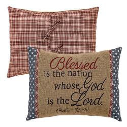 Independence Blessed Pillow Cover