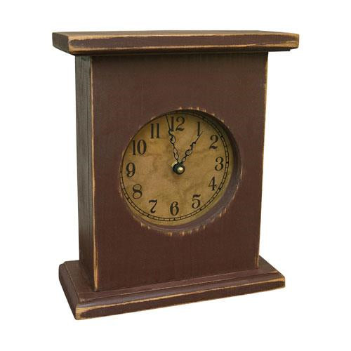 Burgundy Mantel Clock