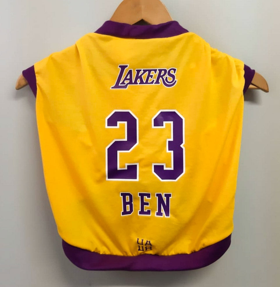 Camiseta Regata Basquete Lakers para Pets