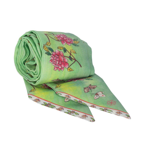 Arete Goods Phoenix & Peony Sash. Shop online peranakan inspired phoenix and peony sash made of silk twill printed in Como, Italy with a soft madder finish. Made in Singapore. International shipping.