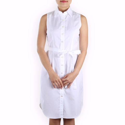 Made-to-Order sleeveless shirtdress Premium