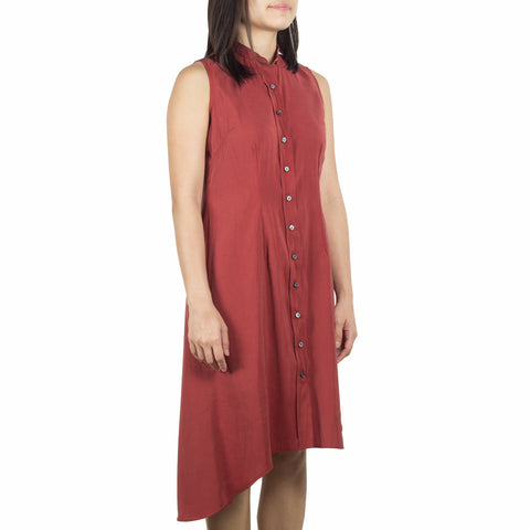 Made-to-Order Bando Side Drape Shirtdress Premium