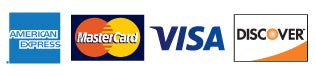 We Accept The American Express Card as well as MasterCard Visa and Discover cards.
