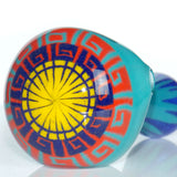heady tribal sun frit smoking pipe