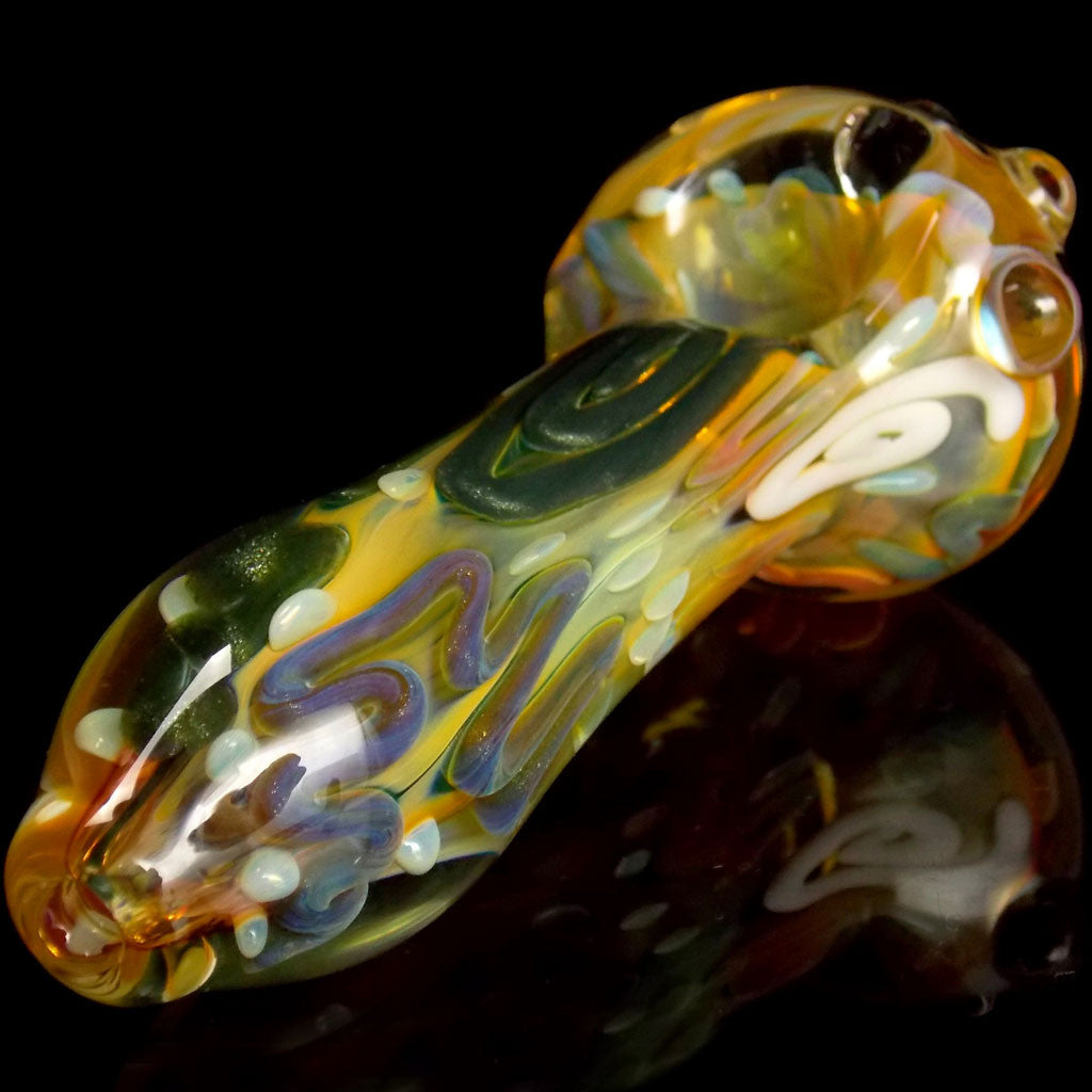Aventurine Rainbow Glass Pipe