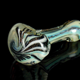 black and white dichroic glass pipe