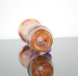 Color changing chillum pipe with purple marbles