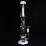 honeycomb glass bong with gridded inline perc