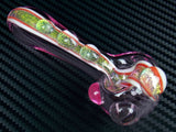Golden Dichroic Pink Spoon
