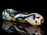 color changing dichroic glass chillum pipe from VisceralAntagonisM
