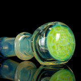 green Slyme honeycomb glass spoon pipe