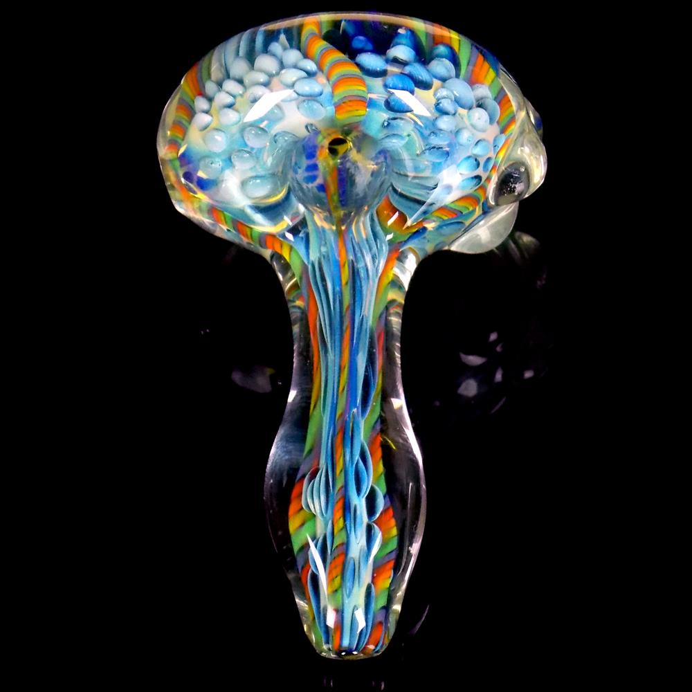 Spoon by Firebrand Veblen Good Line Literally Rainbow Ready to Ship Inside Out Glass Pipe VG10081801