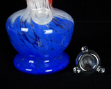 red white and blue soft glass water pipe bong for smoking from VisceralAntagonisM
