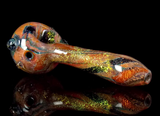 solid dichroic glitter golden dichro glass spoon pipe by VisceralAntagonisM