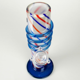 4th of July special red white and blue soft glass water pipe bong from VisceralAntagonisM