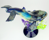 AMG glass humpback whale water pipe heady waterpipe