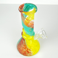 rainbow triple colorful glass smoking bong water pipe VisceralAntagonisM