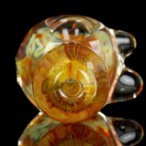 unbreakable 200 gram glass spoon pipe with inside out amber and white color by VisceralAntagonisM