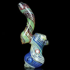 Large Latticino Bubbler