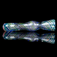 Blue Spiral Gold Fume Chillum