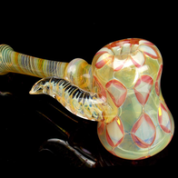 Diamond Dot Stack Fumed Glass Pipe