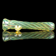 Double Fumed Glass Chillum