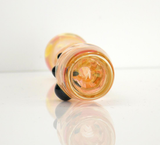 Color Changing Chillum Gold Silver Fumed Glass Smoking Pinchie Pipe Sparkly Unobtainium Green Accent Marbles