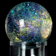 dichroic rainbow galaxy glass marble art