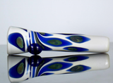 white glass chillum pipe
