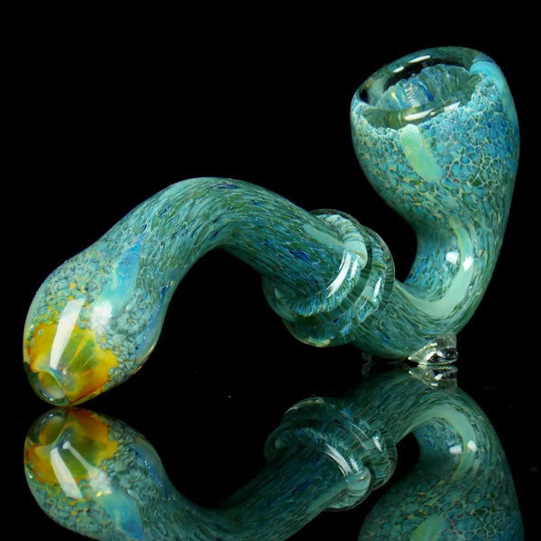 planet earth green glass pipe