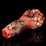red spoon pipe with honeycomb