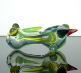 colorful glass spoon pipe with spikes