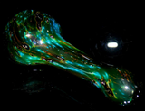 green dichroic extract galaxy glass spoon pipe