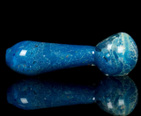 ocean blue frit glass spoon pipe