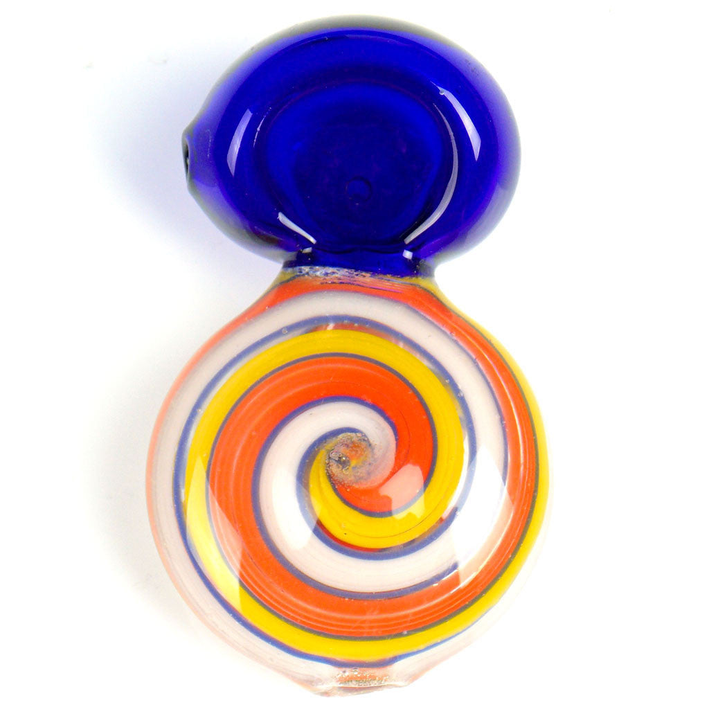 orange swirl disc glass pipe
