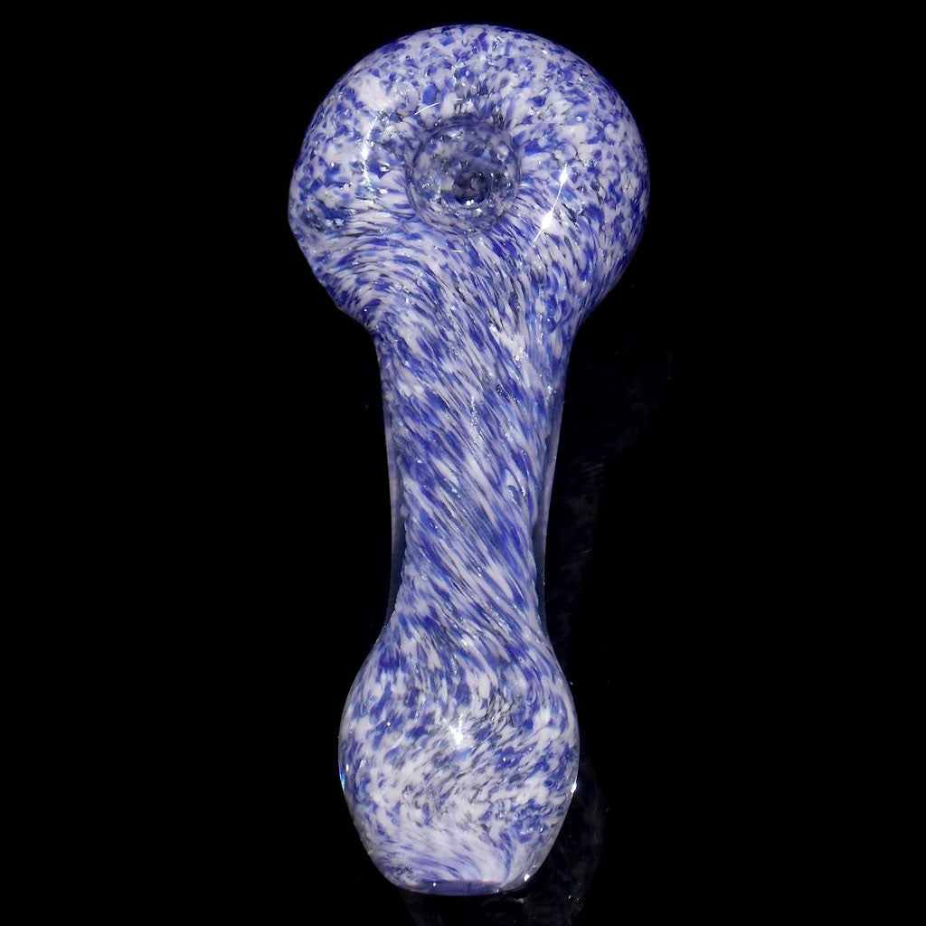 Periwinkle purple frit glass pipe